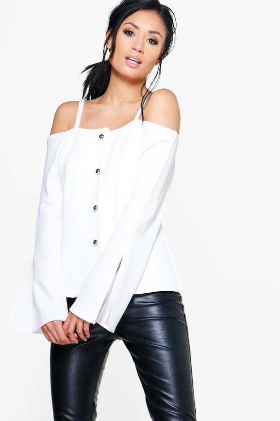 Phoebe Off The Shoulder Blazer