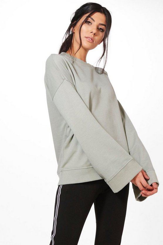 Rose Extreme Oversized Drop Arm Sweater