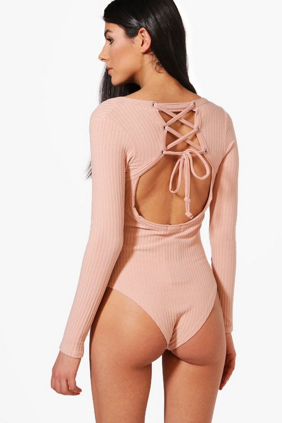 Avery Premium Ribbed Lace Back Bodysuit