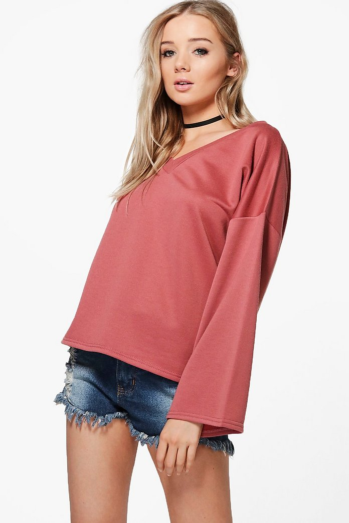 Taylor V Neck Oversized Sweatshirt