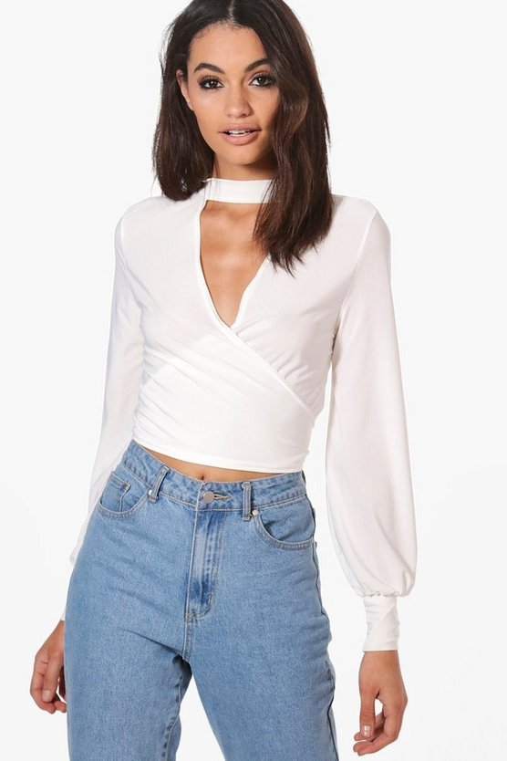 Isla Slinky Cut Out Wrap Crop