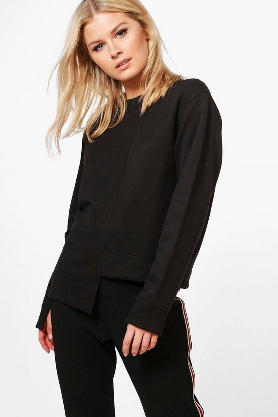 Katie Step Hem Oversized Sweat