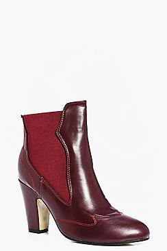 Olivia Pull On Western Chelsea Boot
