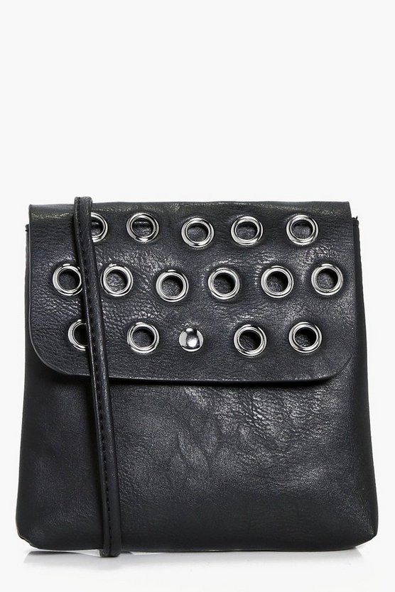 Rachel Eyelet Flap Cross Body Bag
