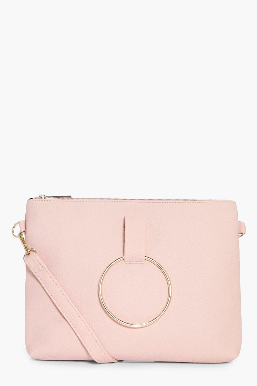 Loop Ring Detail Cross Body Bag - pink - Nina Loop