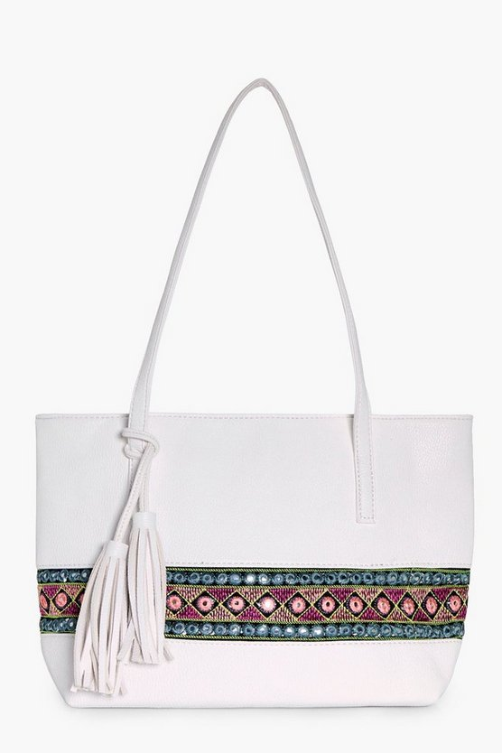Lucia Aztec Mirror Trim Shopper Bag