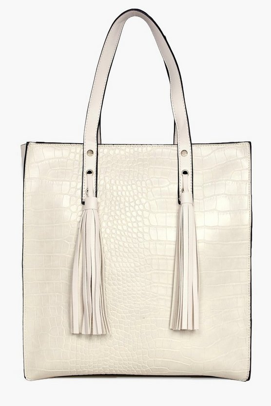 Robyn Mock Croc Shopper Day Bag