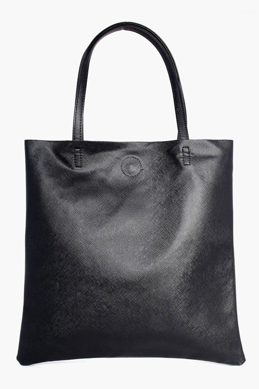 Crosshatch Shopper Bag - black - Hope Crosshatch S