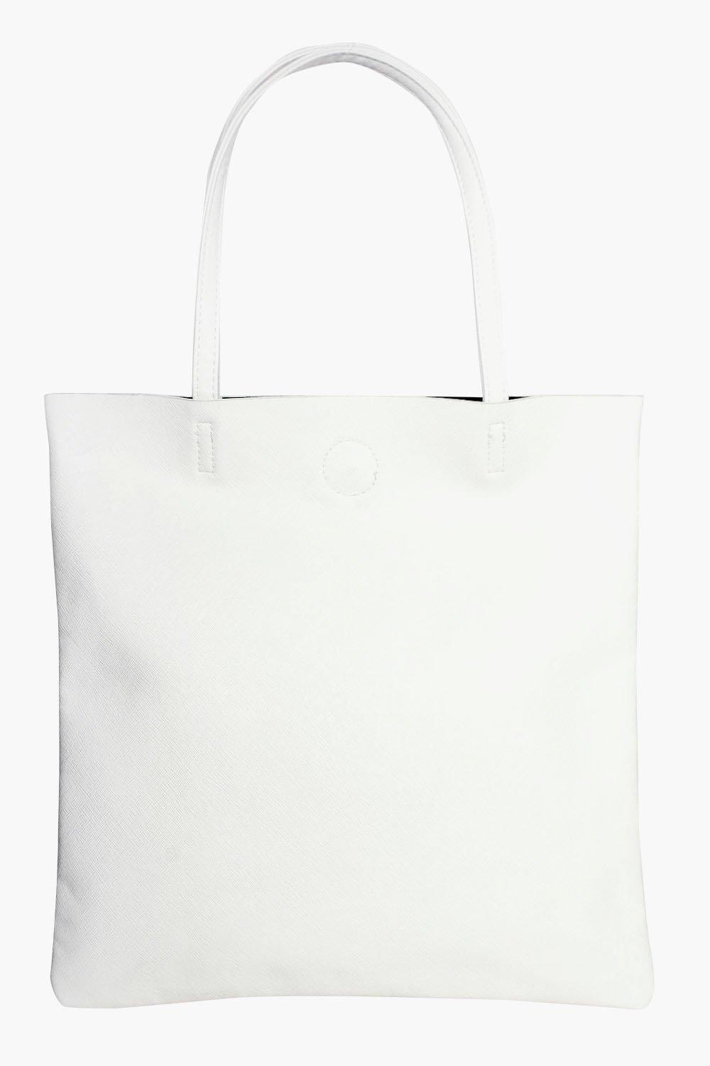 Crosshatch Shopper Bag - white - Hope Crosshatch S