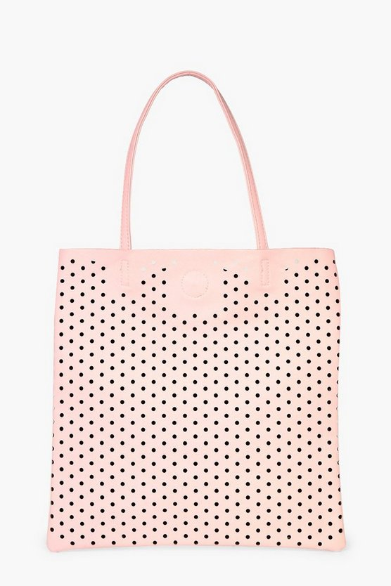 Macie Lazercut Perforated Shopper Bag
