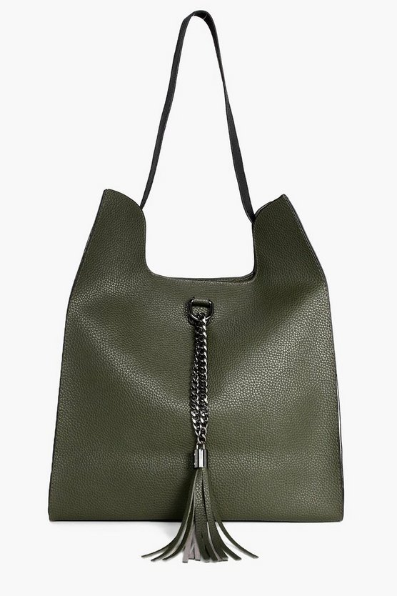 Sadie Colourblock Metal & Tassel Shopper Bag