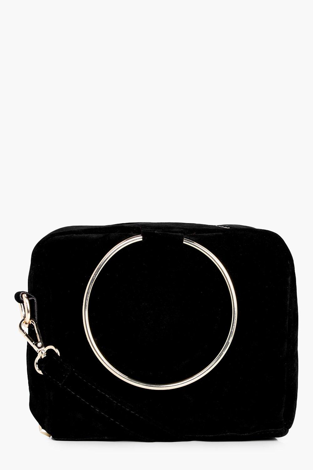 Loop Ring Detail Cross Body Bag - black - Frankie