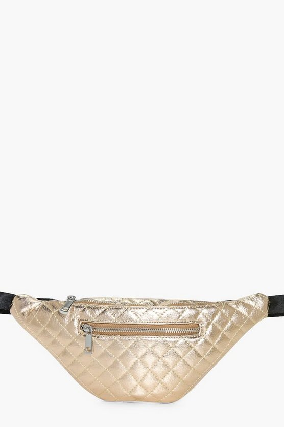 India Metallic Quilted Bumbag