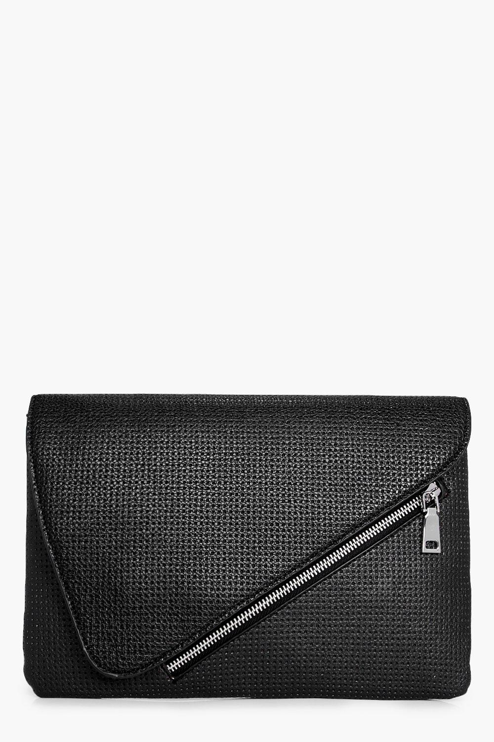 Perforated Clutch - black - Ivy Perforated Clutch