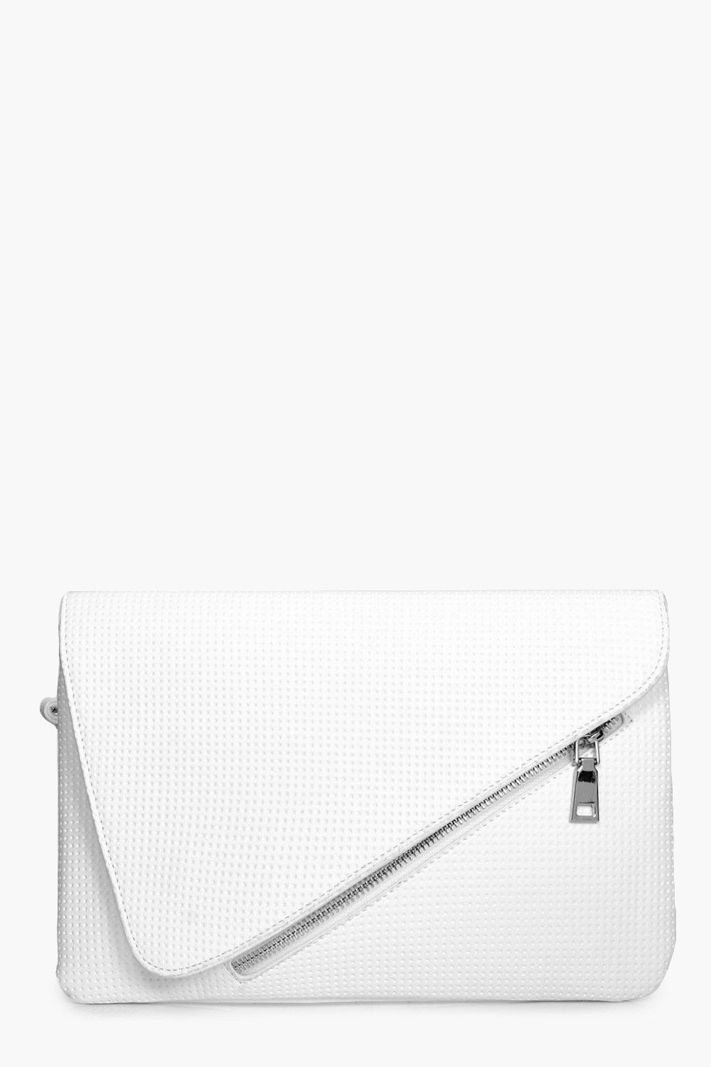 Perforated Clutch - white - Ivy Perforated Clutch