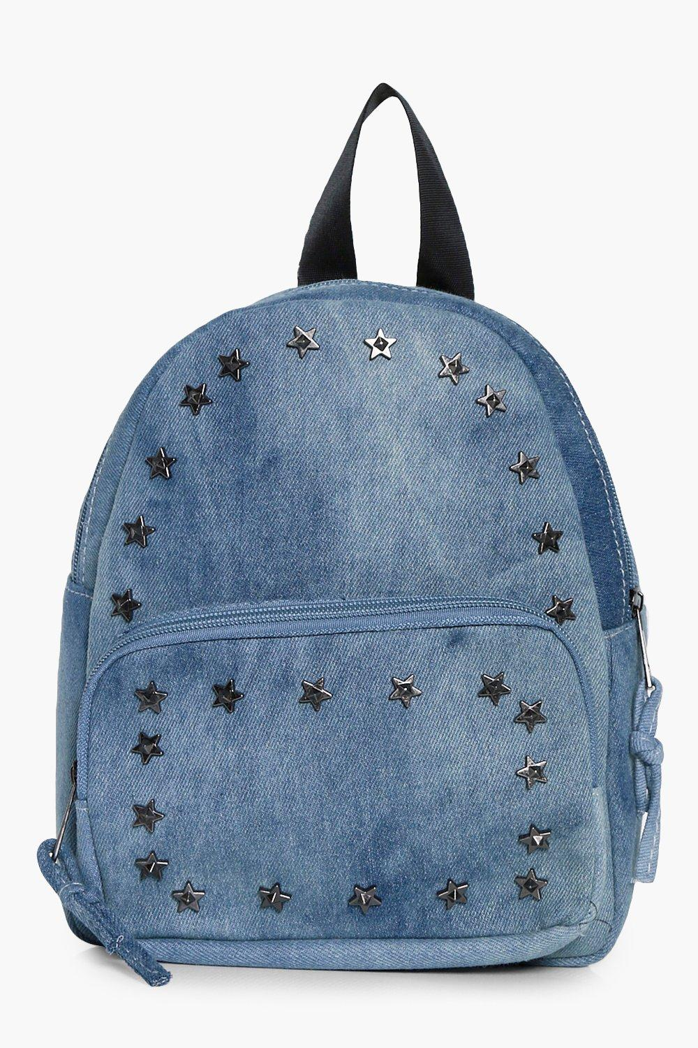 Denim Star Stud Rucksack - blue - Elena Denim Star