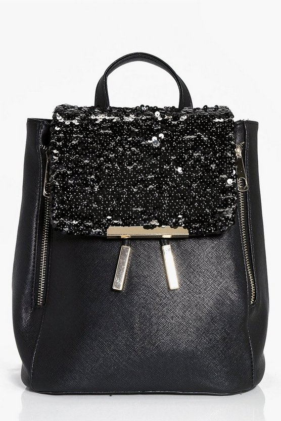 Angel Sequin Panel Rucksack