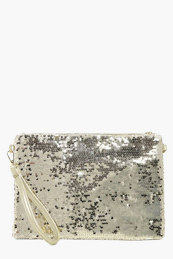Natasha Two Way Sequin Clutch