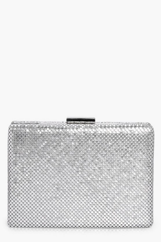 Alisha Chainmail Box Clutch Bag