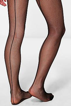 Maya Micro Fishnet Tights With Back Seam