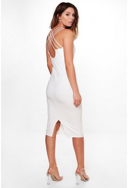 Ray Strappy Back Detail Midi Dress