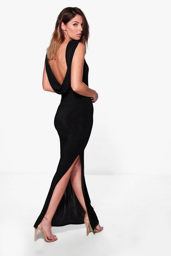 Holly Slinky Cowl Back Detail Maxi Dress