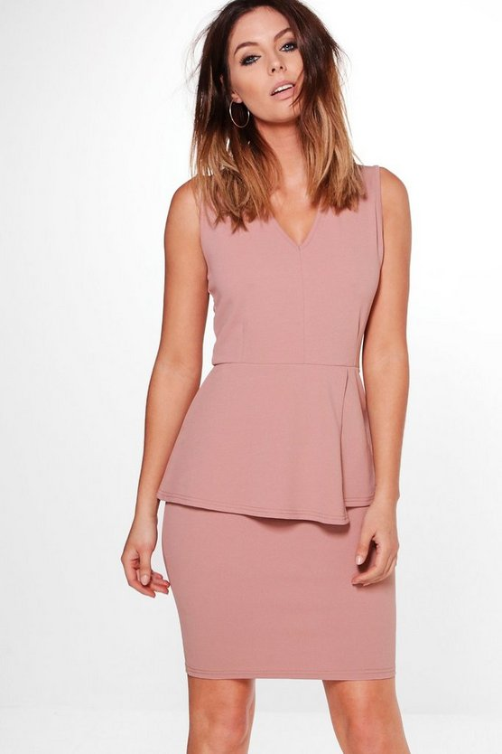 Harriet Peplum Tailored Dress