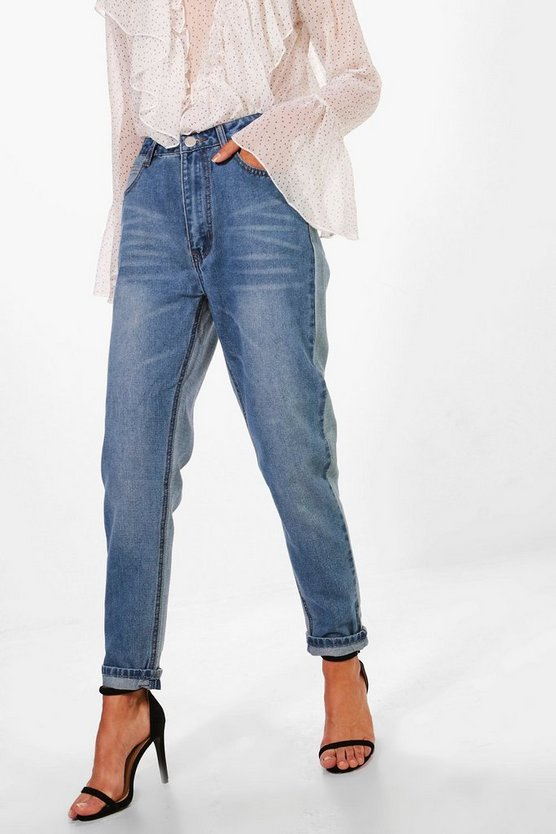 Sophie High Waist Contrast Mom Jeans