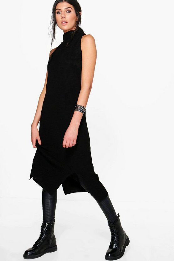 Lottie Funnel Neck Sleeveless Jumper