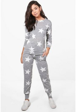 Emma Star Print Knitted Lounge Set