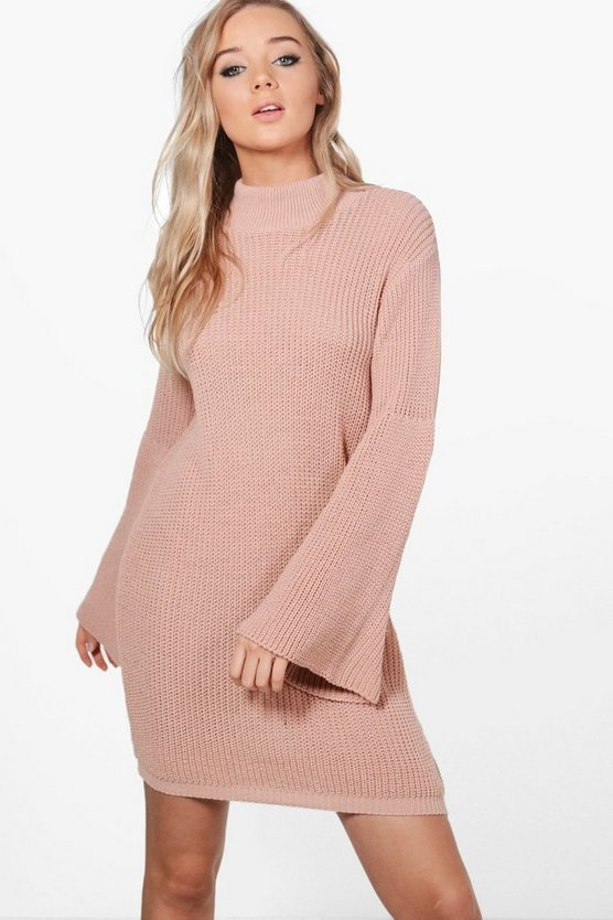 Erin Wide Sleeve Jumper Dress