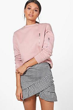 Avalon Drop Hem Gingham Mini Skirt