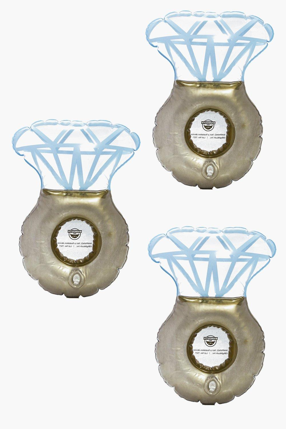 Ring Floating Beverage Boats - gold - Bling Ring F