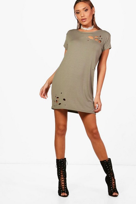 Orla Distressed T-Shirt Dress