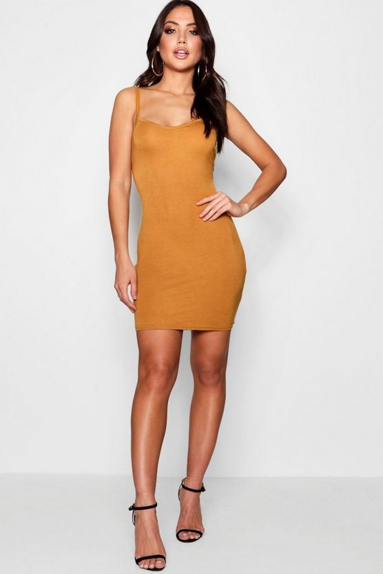 Freida Basic Strappy Cami Bodycon Dress