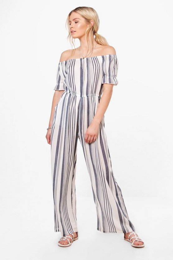 Tasha Striped Cullotte Jumpsuit