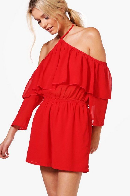 Laura Ruffle Playsuit