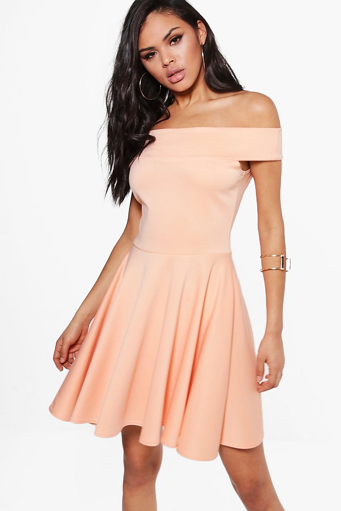 Tamzin Off Shoulder Skater Dress