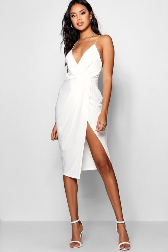 Diane Strappy Wrap Detail Midi Dress