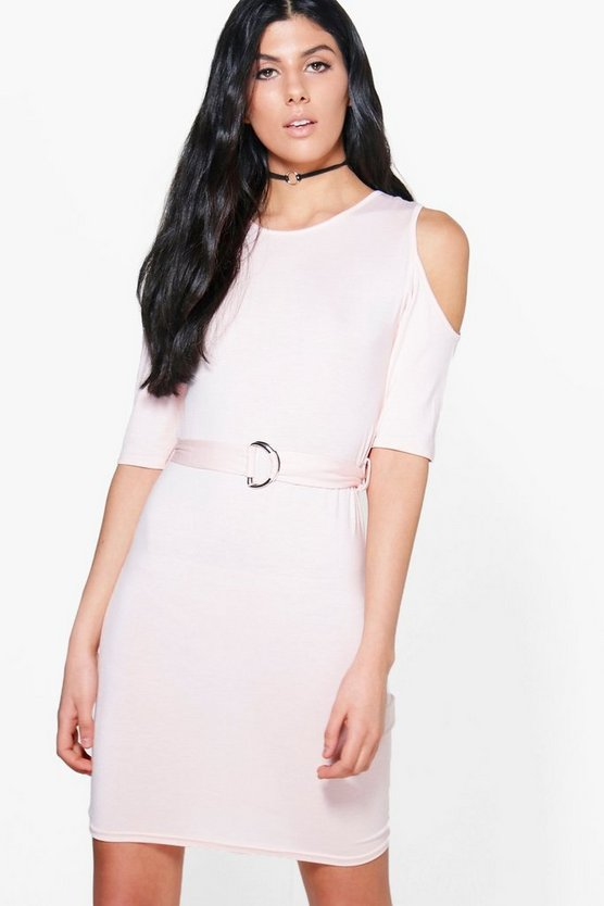 Betty D-Ring Cold Shoulder Midi Dress