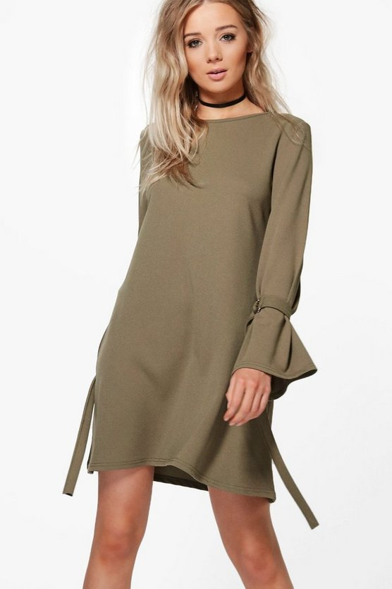 Jamie D-Ring Tie Sleeve Swing Dress