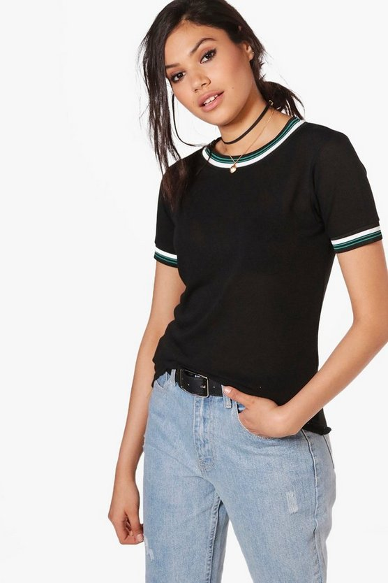 Lauren Sports Trim Knitted T-Shirt