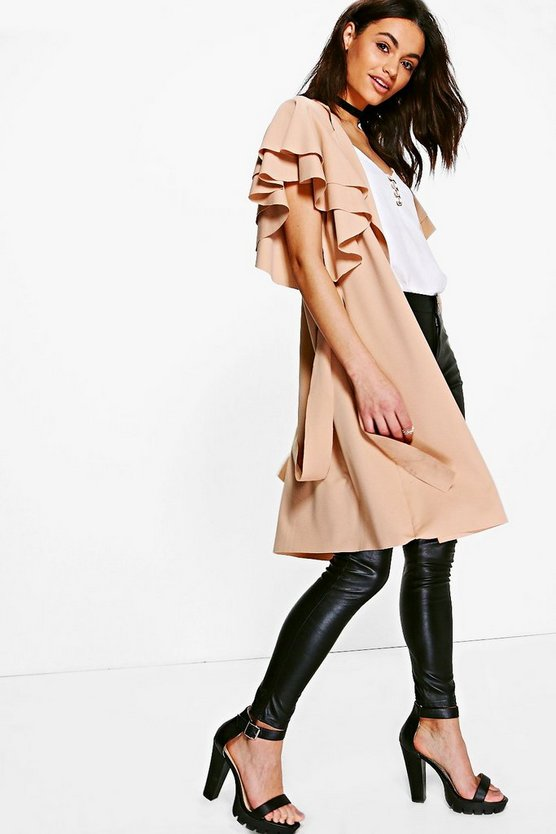 Ruby Ruffle Belted Duster