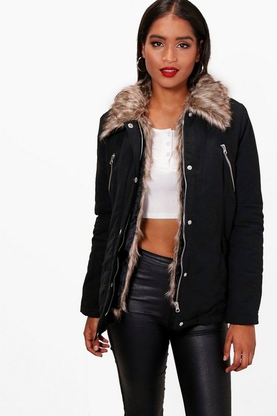 Holly Detachable Faux Fur Trim Parka