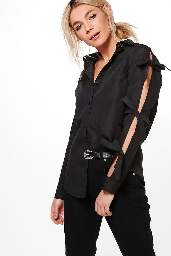Georgina Tie Open Sleeve Shirt