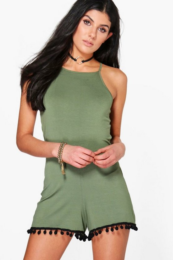 Keira Pom Pom Trim Playsuit
