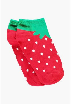 Leila Strawberry Trainer Socks