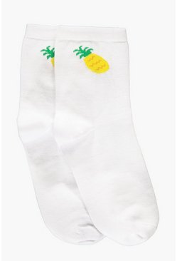 Lottie Pineapple Emoji Ankle Socks