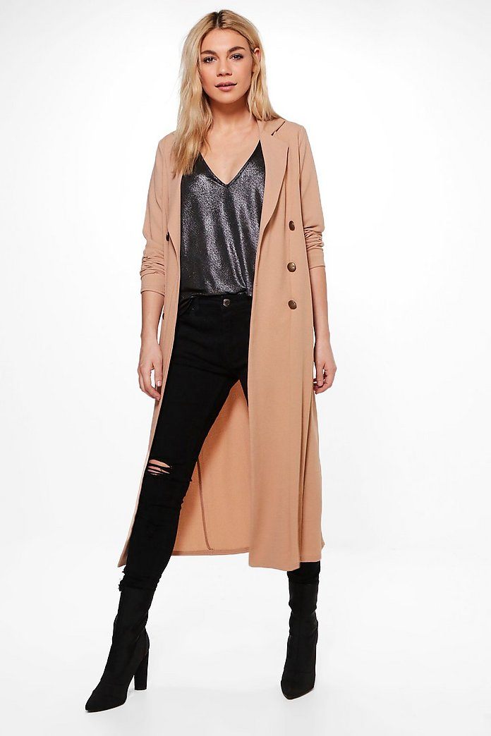 Alana Double Breasted Military Duster
