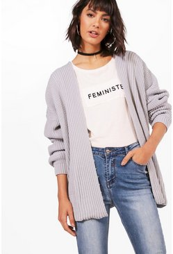 Lottie Oversized Rib Cardigan